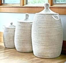 unique laundry hamper ideas bathroom clothes bin bench hampers teak prayer eclectic baskets