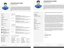 Professional Resume With Cover Letter Set Free Download