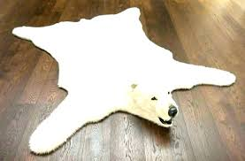 bear skin rug cost faux fur rugs with head fake polar medium size of unique large