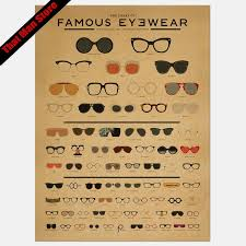 Chart Of Famous Eyewear Large Glasses Eye Chart Optical Window Wall Sticker Eye Doctor Optometry Hipster Eyewear Specs Frames Glass Wall Decal Vinyl