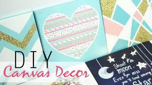 Diy Canvas Painting Diy 5 Easy Canvas Decor Gift Ideas Youtube