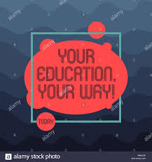 Text Sign Showing Your Education Your Way Conceptual Photo