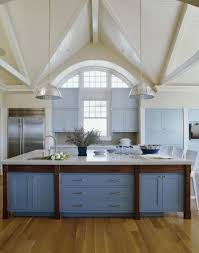 Kitchen:Pretty Blue Kitchen Inspiration With White Vaulted Ceiling Color  Idea Cool Decoration Blue Kitchen