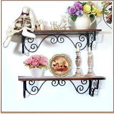 wrought iron wall shelves antique style shelving decorative shelf bracket flower india
