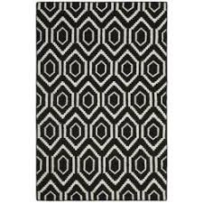 Unique Black And White Rug Patterns Safavieh Moroccan Reversible Dhurrie Blackivory Geometric Pattern Wool For Design