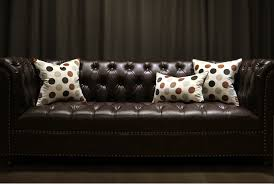 polka dots throw pillows for brown leather couch beige decorative cushions