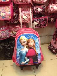 polyester lovely cartoon detachable kids trolley book backpack bag