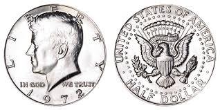 1967 Kennedy Half Dollar Value Chart 1972 Kennedy Half Dollar Coin Value Prices Photos Info