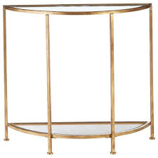 inspiration house alluring home decorators collection bella aged gold demilune glass console with gold console