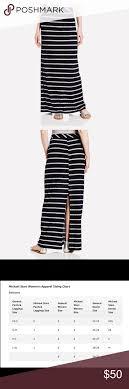 Nwt Michael Stars Black Striped Skirt Sz S M 1 Nwt