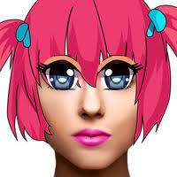 anime eye s makeup beauty salon photo edit or