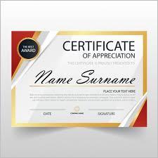 Certificate Of Appreciation Editable Template Free Download