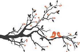 love birds on branch silhouette. Beautiful Branch Bird On Tree Branch Silhouette For Love Birds H