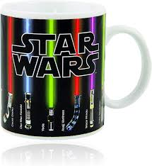 Coffee cup coffee mug milk cup portable double‑layer stainless steel heat. Amazon Com Star Wars Mug Lightsabers Appear With Heat 12 Oz Fragile Kitchen Dining
