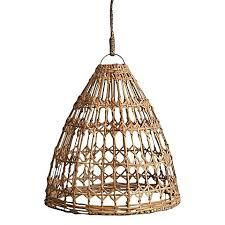 handwoven rattan pendant light shade flat rattan pendant light p31 light