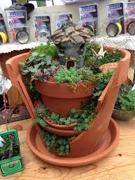 Broken Flower Pot Images About Fairy Garden Broken Pot Style With Decoration For