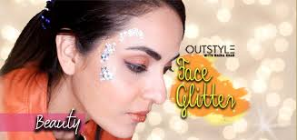 party wear trends face glitter tutorial glam your face using glitter crystals makeup tips outstyle with nadia khan