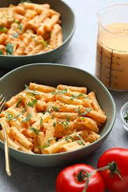 vegan creamy tomato basil pasta only 8