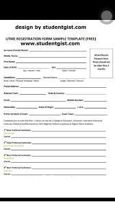 Download Registration Form Template JAMB UTME 24 Registration Form Template Download Free And Print 23
