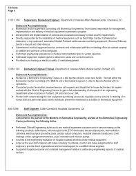 Biomedical Repair Sample Resume Sarahepps Com