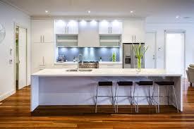Modern Kitchen Gallery Design Modern Grey Minimalist High End One Wall Kitchen Sleek