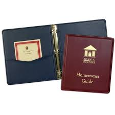 2 inch promotional faux leather presentation folders premium promotional ring binders