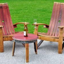wine barrel outdoor furniture. Wine Barrel Adirondack Chair Outdoor Furniture