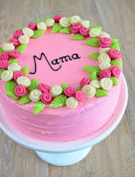 Mothers Day Cake With Marzipan Roses Mothers Day Gifts