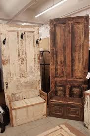 wooden doors old made into coat racks
