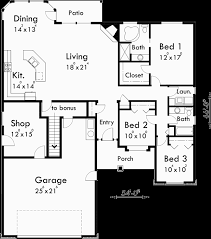 stunning ideas house plans with bonus room main floor plan for 10059 one story house plans