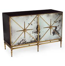 hollywood regency mirrored furniture. John-Richard Adalyn Hollywood Regency Antique Mirror Gold Black 2 Door Sideboard   Kathy Kuo Mirrored Furniture O