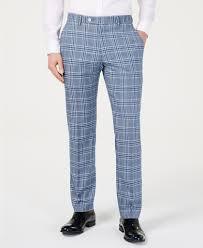 Light Blue Plaid Pants 120 Tommy Hilfiger Mens Modern Fit Light Blue Bold Plaid Dress Pants 42 X 32