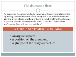 Good Introduction Thesis Statement How To Write An Introduction