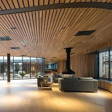 open ceiling wooden suspended ceiling panel strip acoustic linear open wooden ceiling open rafter ceiling designs