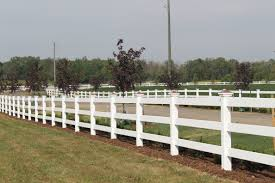 rail fence styles. 3-rail Ranch Style Vinyl Fence With Approximate Height Of 48\ Rail Styles R