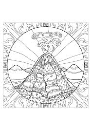 Coloring Page Adults Volcano 2 From