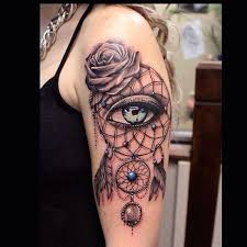 Pics Of Dream Catchers Tattoos 100 Dreamcatcher Tattoos to Keep Bad Dreams Away 67