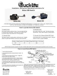 truck light series 900 switch switch electrical wiring truck lite wiring diagram 960y101 Truck Lite Wiring Diagram #31
