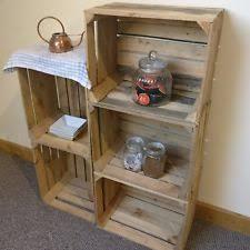 wooden crates furniture. Wooden Apple Crate Box Storage. Vintage Display Fruit Crates Rustic Boxes Hamper Furniture