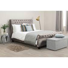 upholstered bed frame. Limelight Orbit Silver Velvet Upholstered Bed Frame Double With Bedmaster Pine Rest Quilted Mattress Y