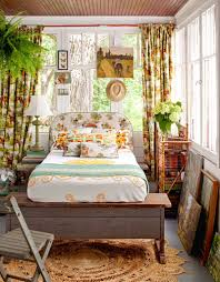 unique bed frames. A Pair Of Garden Benches Become Unique Bed Frame In This Quaint Sun Porch. Frames S