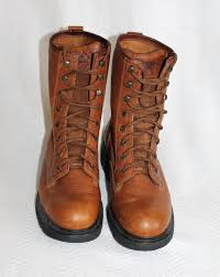 wolverine men 9 5 m herrin slip oil resistant kiltie leather work safety boots 1 of 5only 1 available