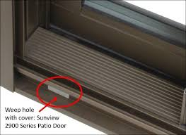 patio door drainage holes a pictures