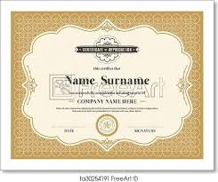 Certificate Background Free Free Art Print Of Vintage Retro Frame Certificate Background
