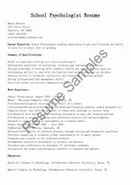 School Psychology Intern Cover Letter Prepasaintdenis Com