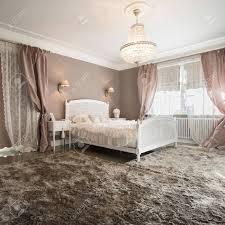Romantische Schönheit Schlafzimmer Inter Mit Weichen Teppich