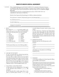 Month To Month Rental Agreement Template: Download, Edit & Fill ...