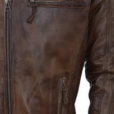 mens biker style leather jacket timber bristol