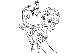 Disney Princess Coloring Pages Frozen Elsa And Anna To Print Of Page