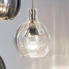 pendant glass lighting. German Hand-Blown Crystal Glass Pendant Light Round Clear Lighting